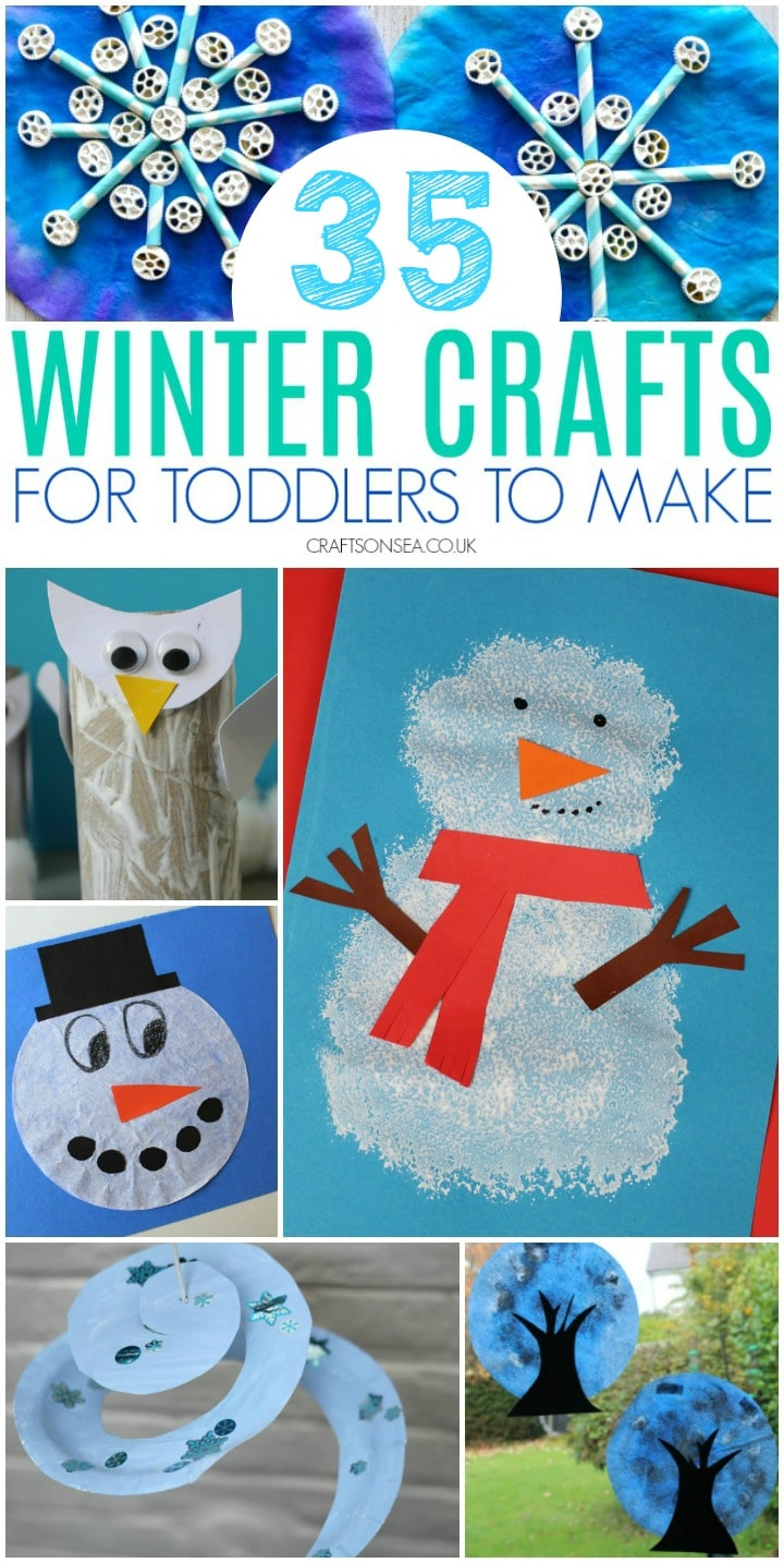 winter crafts for toddlers to make easy ideas with snowmen and arctic animals