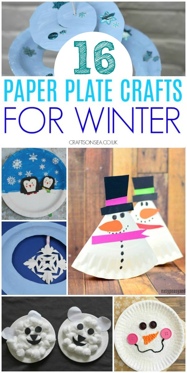 winter paper plate crafts for kids and toddlers #wintercrafts #kidscrafts
