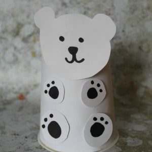 yogurt pot polar bear craft