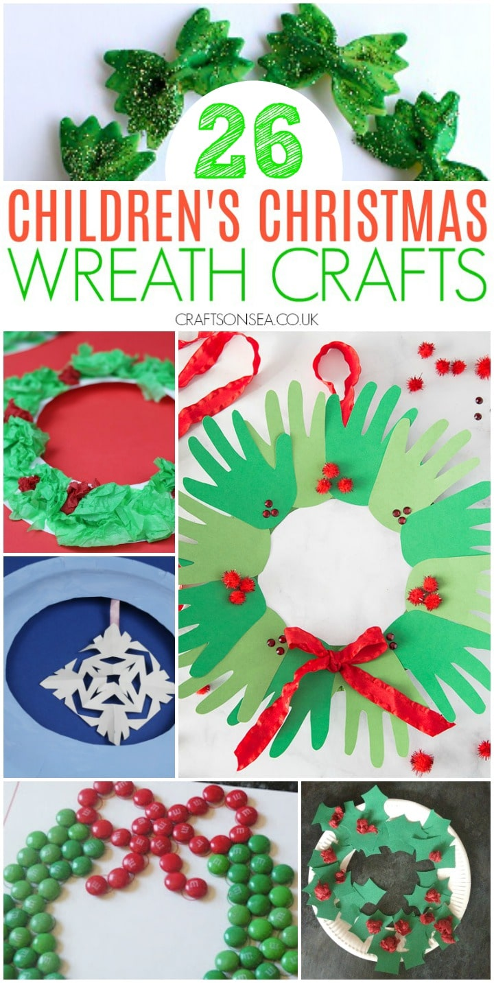 Childrens Christmas wreath crafts
