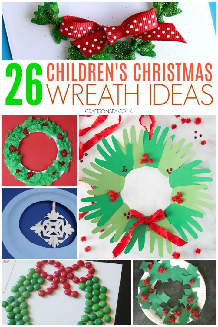 Childrens Christmas wreath ideas easy crafts