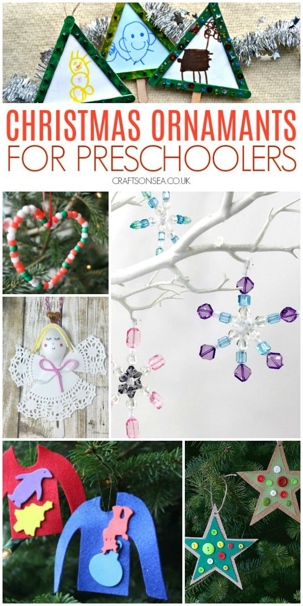 Christmas ornaments preschool craft #preschool #christmas