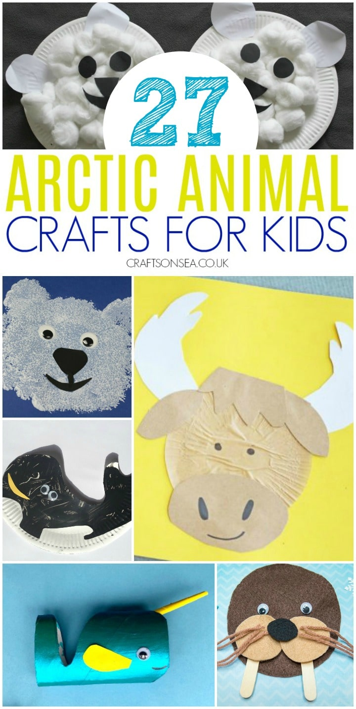 arctic animal crafts for kids to make suitable for preschoolers polar bear craft, orca craft and a moose craft for kids