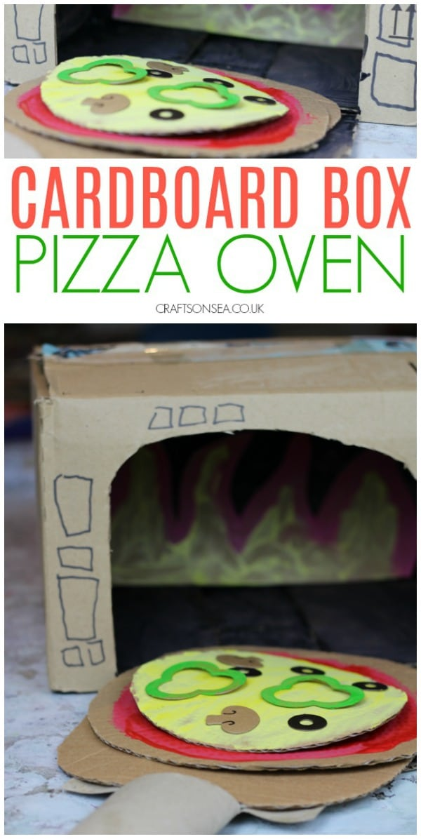 cardboard box crafts kids pizza oven #kidscrafts