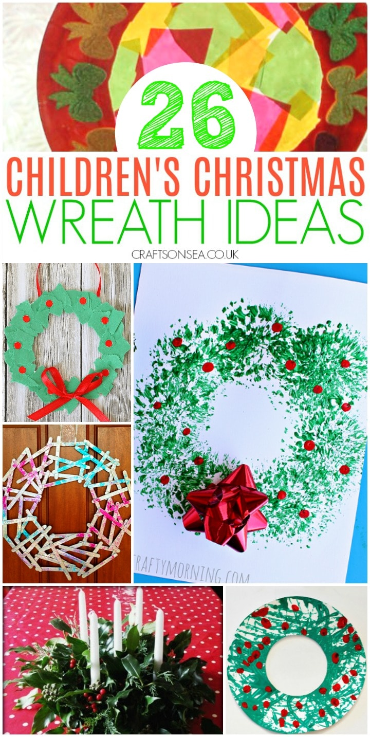 childrens christmas wreath ideas preschool toddlers school