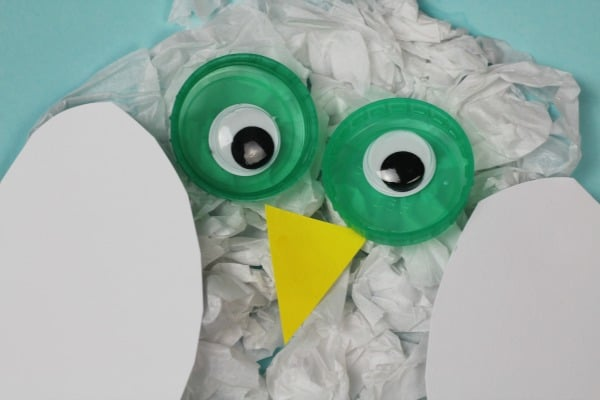easy snowy owl craft for kids