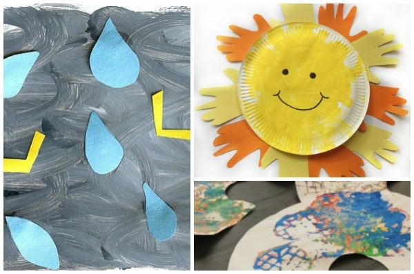 easy weather crafts for toddlers sun rainbow thunder