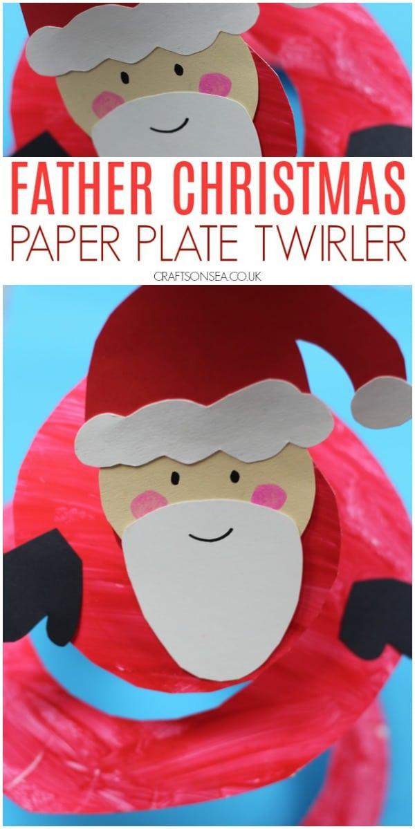 paper plate santa christmas craft for kids #christmascrafts #christmascraftsforkids #santacraft