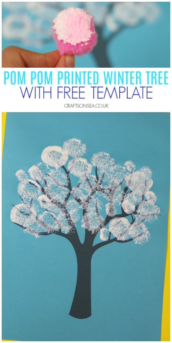Winter Tree Painting Ideas For Kids Crafts On Sea