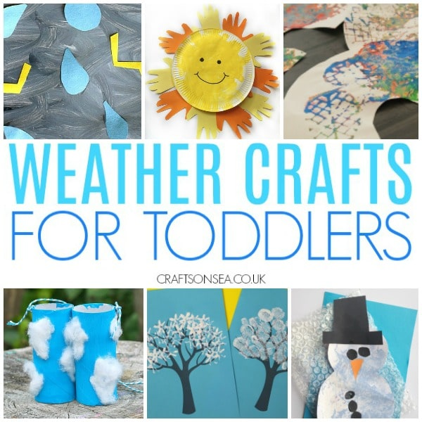 weather crafts for toddler snow clouds