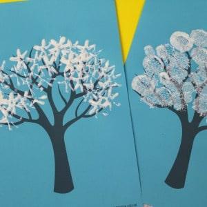 Winterbaummalerei Ideen 300