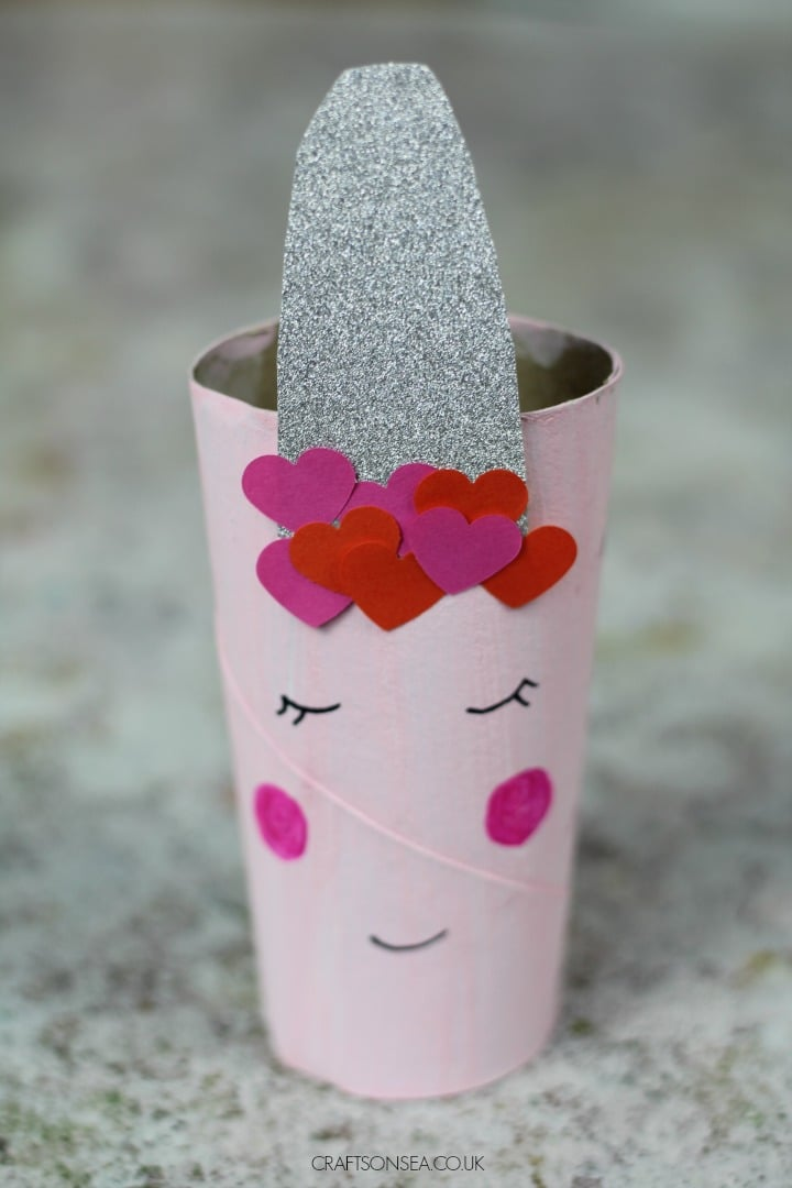 Unicorn Valentines Day Toilet Paper Roll Craft For Kids