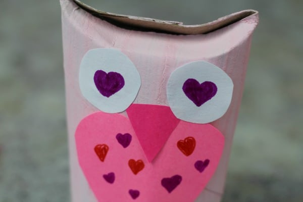 cute owl valentines day toilet paper roll craft