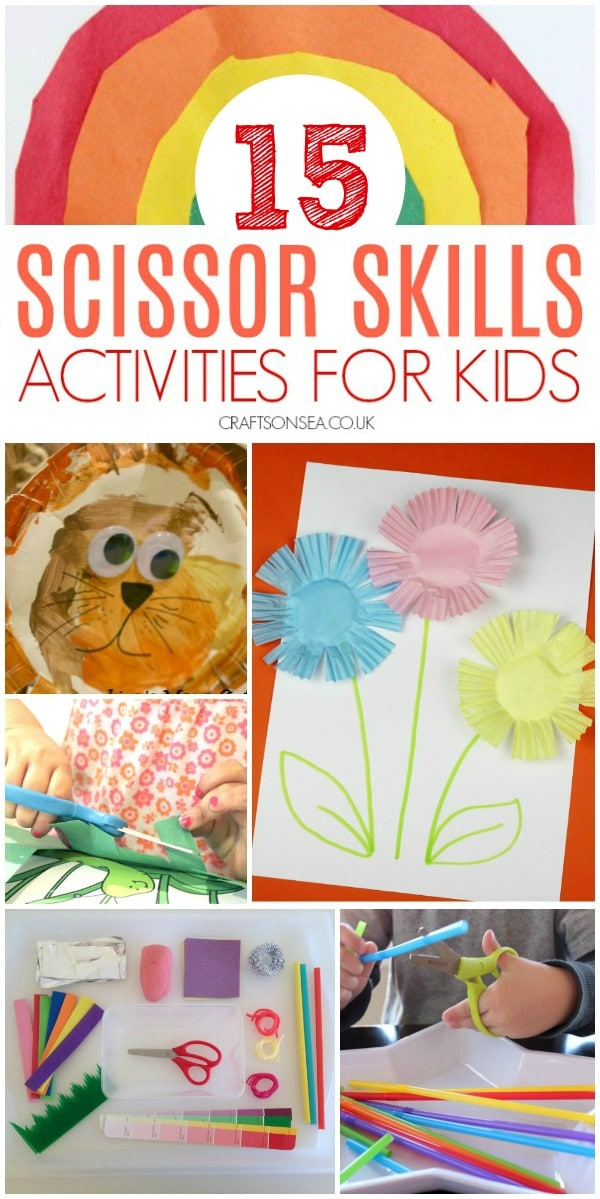 easy scissor skills activities for kids #scissorskills #kidsactivities