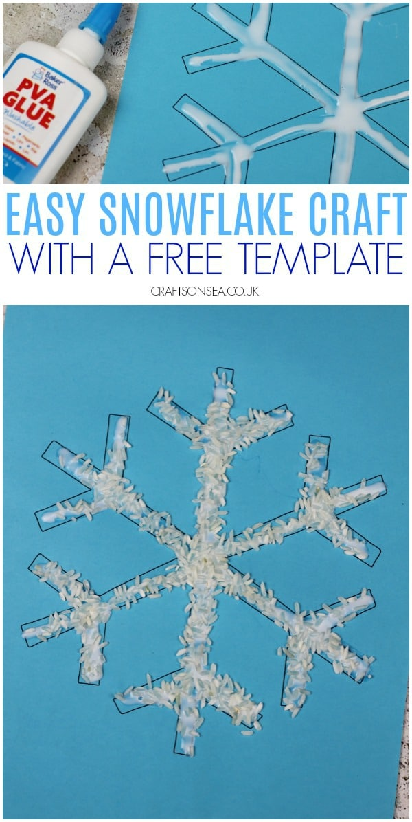 easy snowflake craft for kids to make toddler preschool