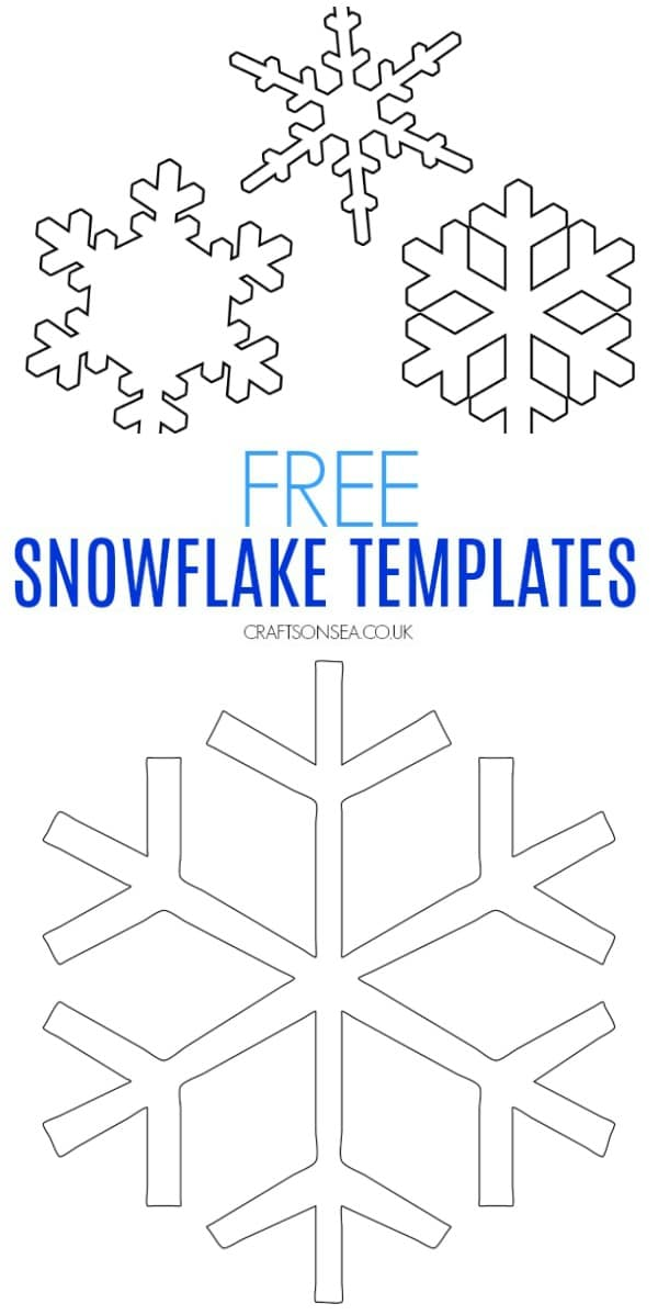 easy snowflake template for crafts #kidscrafts