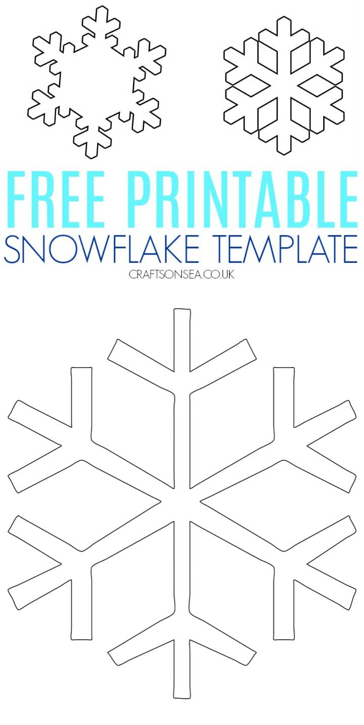 snowflake template uk  Free Snowflake Template - Crafts on Sea