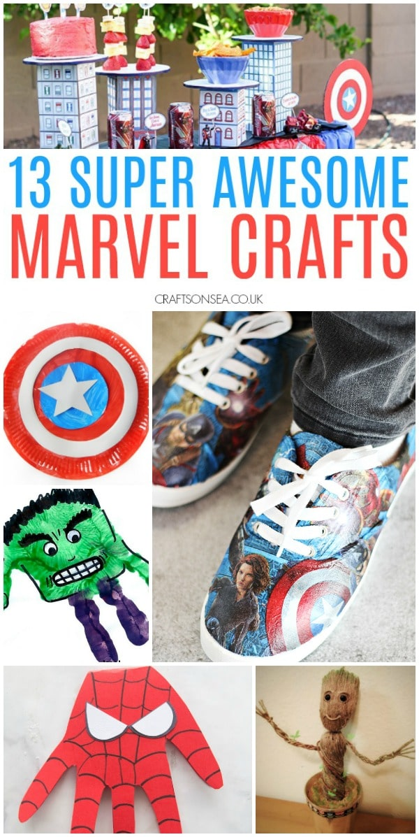 marvel crafts for kids and adults avengers