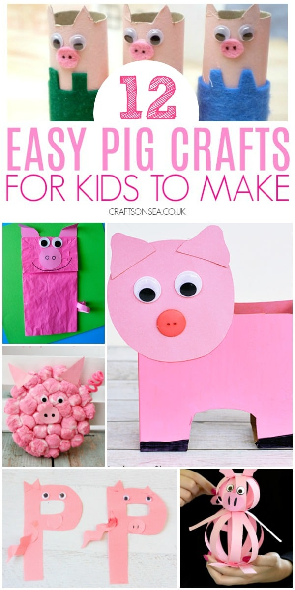 pig crafts for kids preschool easy