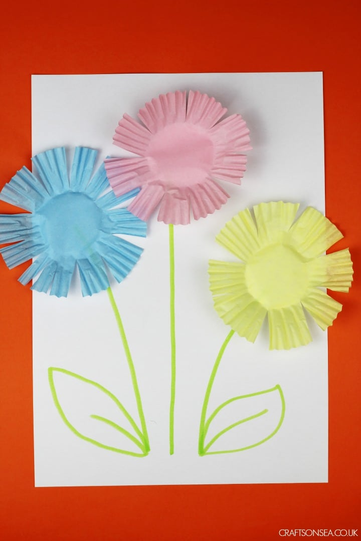 scissor skills flowers craft activity
