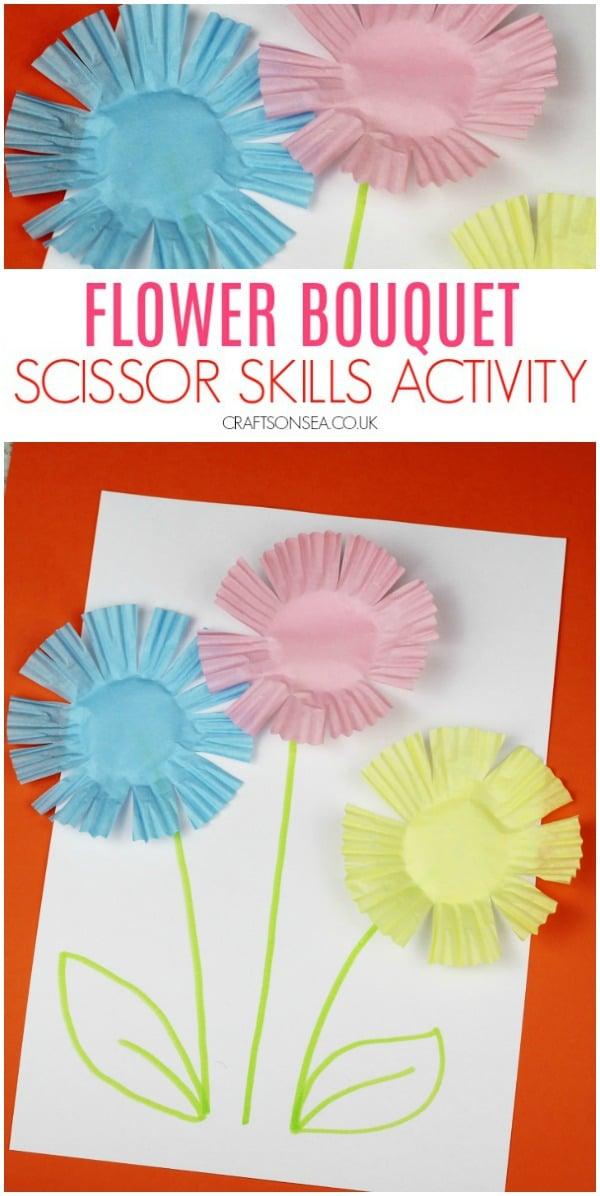 scissor skills preschool flowers easy #scissorskills #preschool
