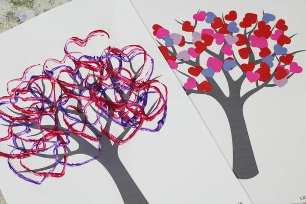 simple valentines tree crafts