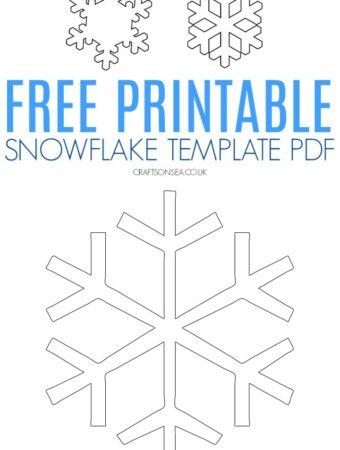 snowflake template pdf