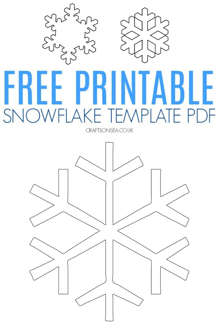 Free Snowflake Template (Printable PDF) - Crafts on Sea