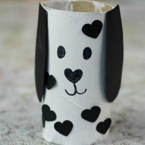 toilet roll craft dog 300