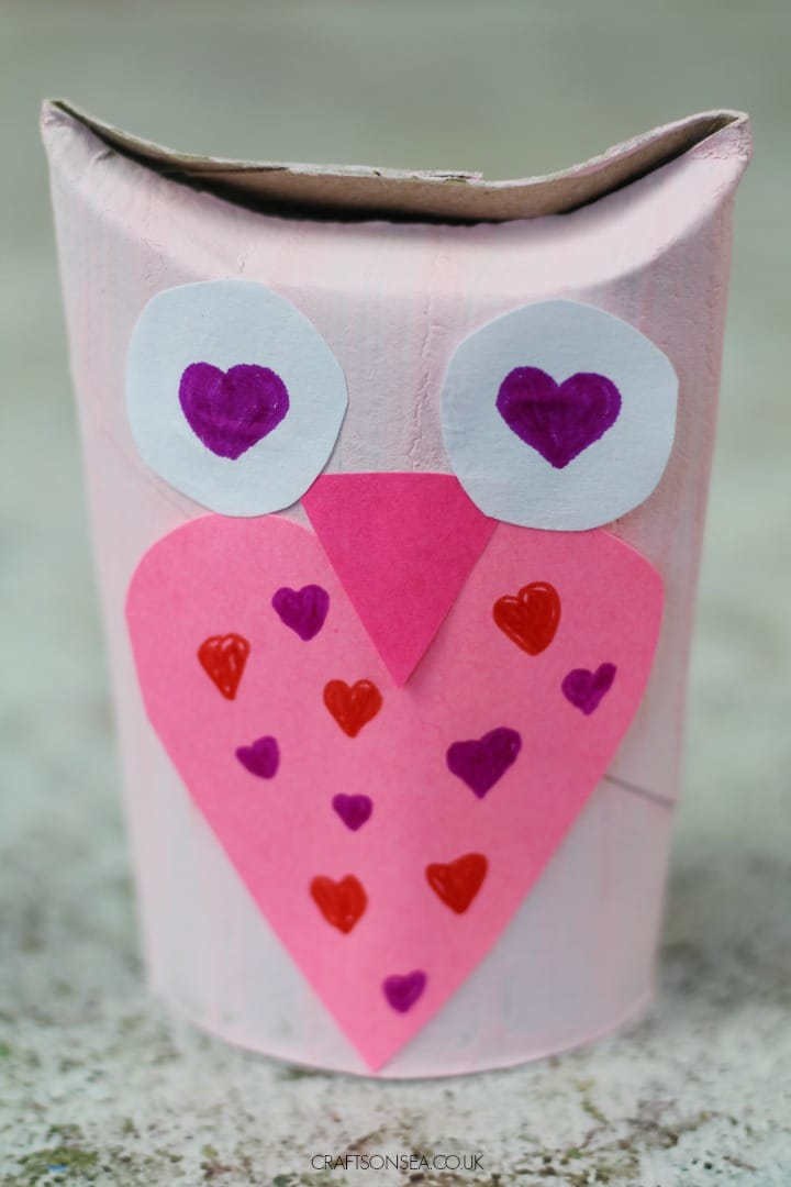 toilet roll owl craft for kids