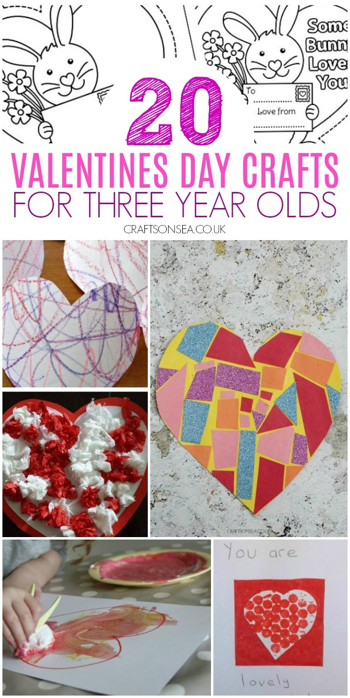 valentine's day crafts for 3 year olds easy