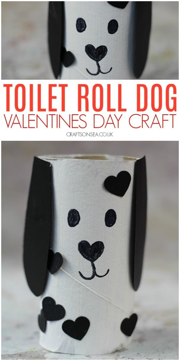 valentines day crafts for kids cute toilet roll dog #kidscrafts