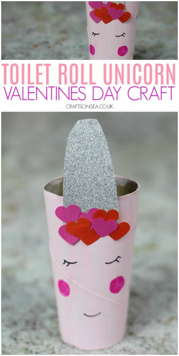 valentines day crafts for kids easy toilet paper roll unicorn #kidscrafts