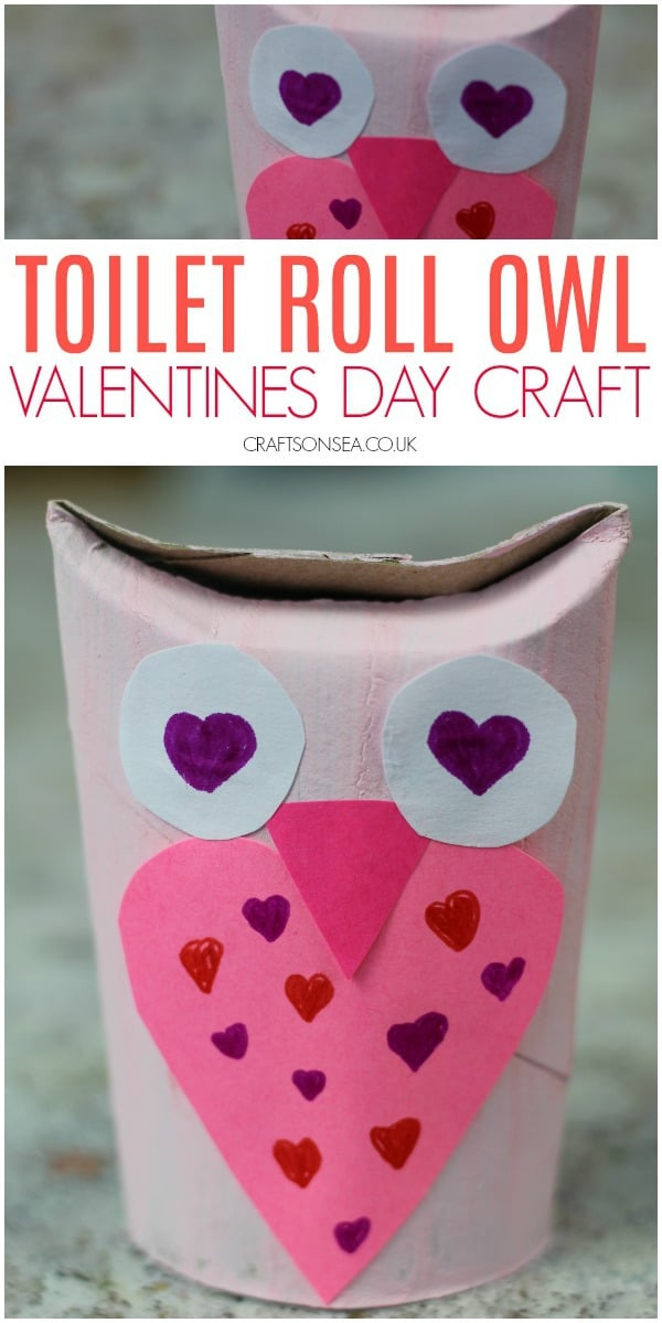 valentines day crafts for kids owl toilet roll #kidscrafts