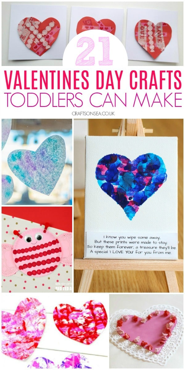 valentines day crafts for toddlers fun #kidscrafts