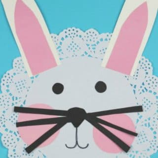doily bunny craft for kids