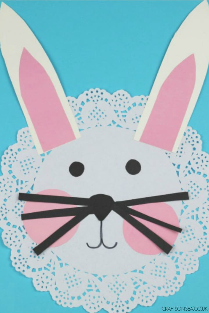 DOILY RABBIT CRAFT FOR EASTER