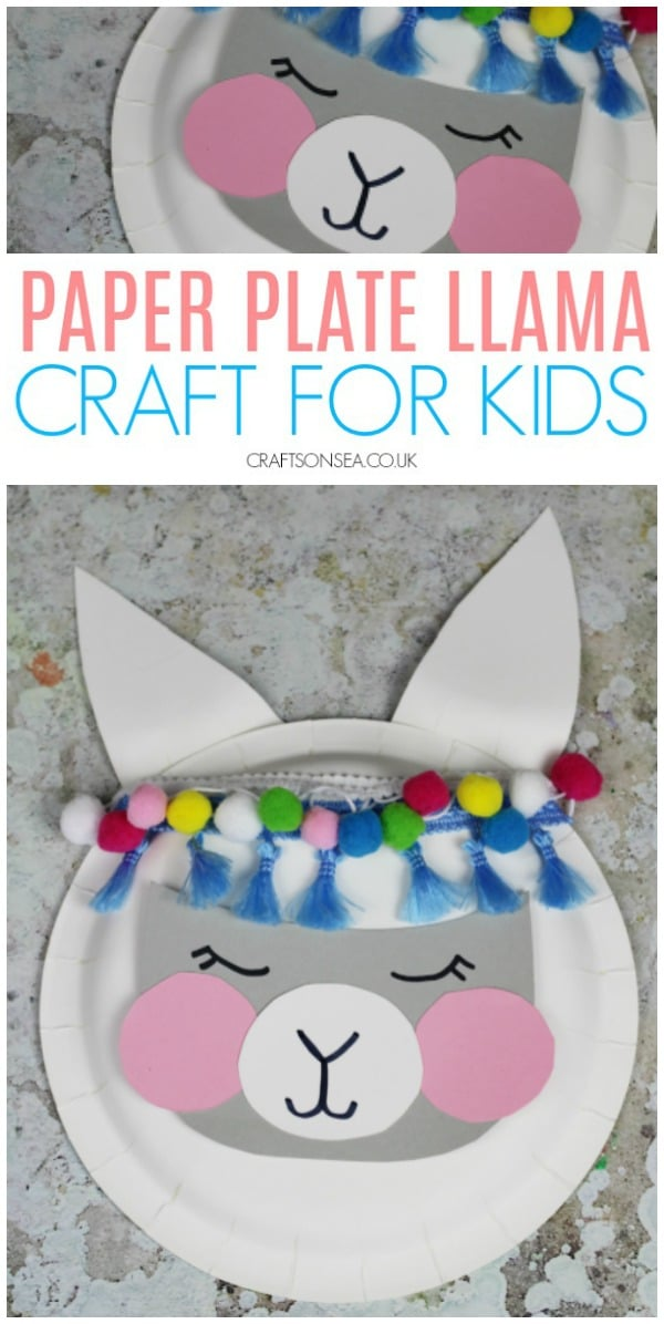 Ad. Celebrate the Craft Term with Ebay.co.uk and make this easy paper plate llama craft for kids #kidscrafts #kidsactivities