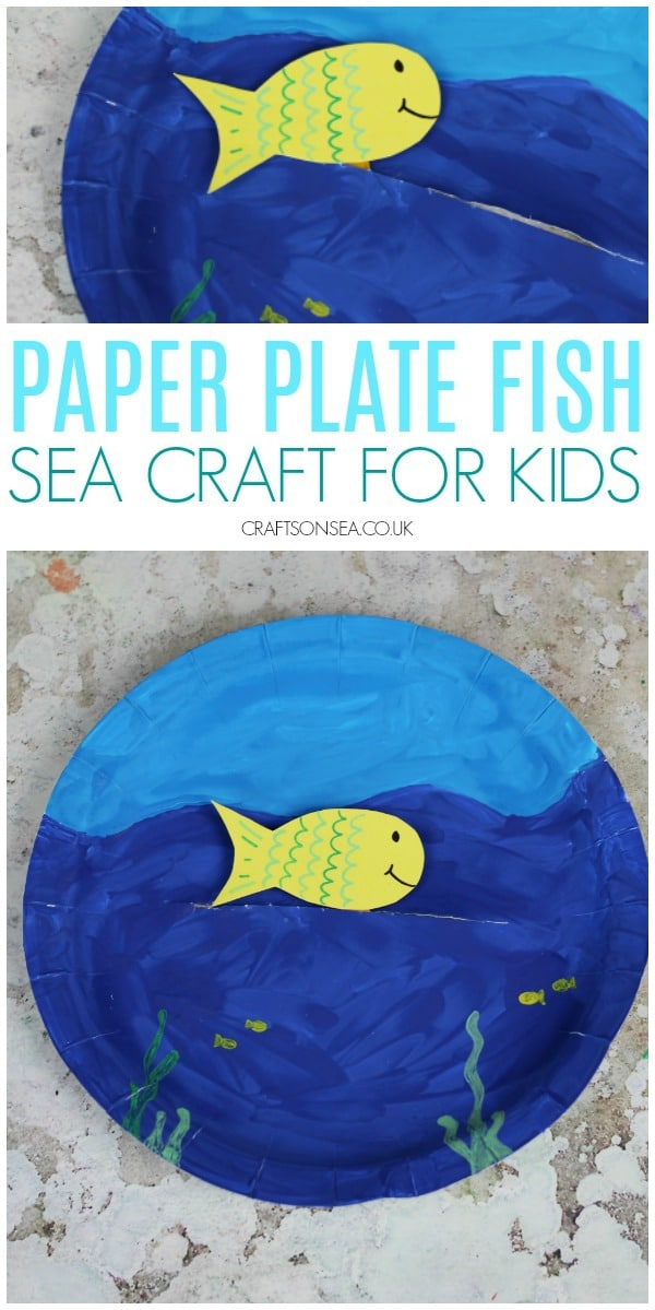 Ad. Have an amazing Craft Term with Ebay.co.uk and make this easy movable paper plate fish a simple sea craft for kids #kidscrafts #kidsactivities