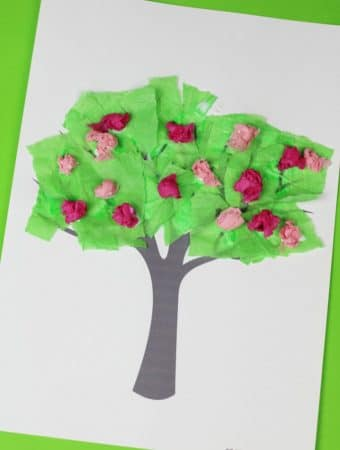 SPRING TREE CRAFTS FOR KIDS WITH FREE TEMPLATE