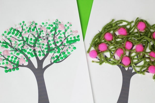 easy spring tree crafts for kids preschool