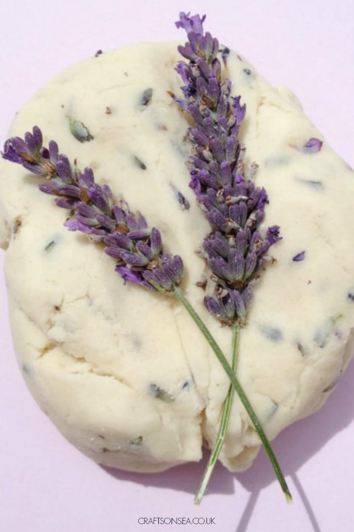 lavender playdough