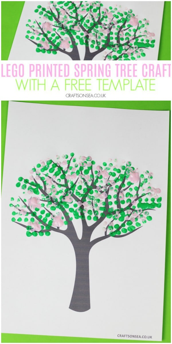 lego printed spring tree craft for kids #preschool #springcrafts
