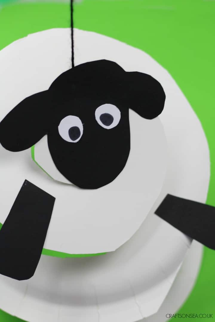 paper plate sheep craft for kids scissor skills