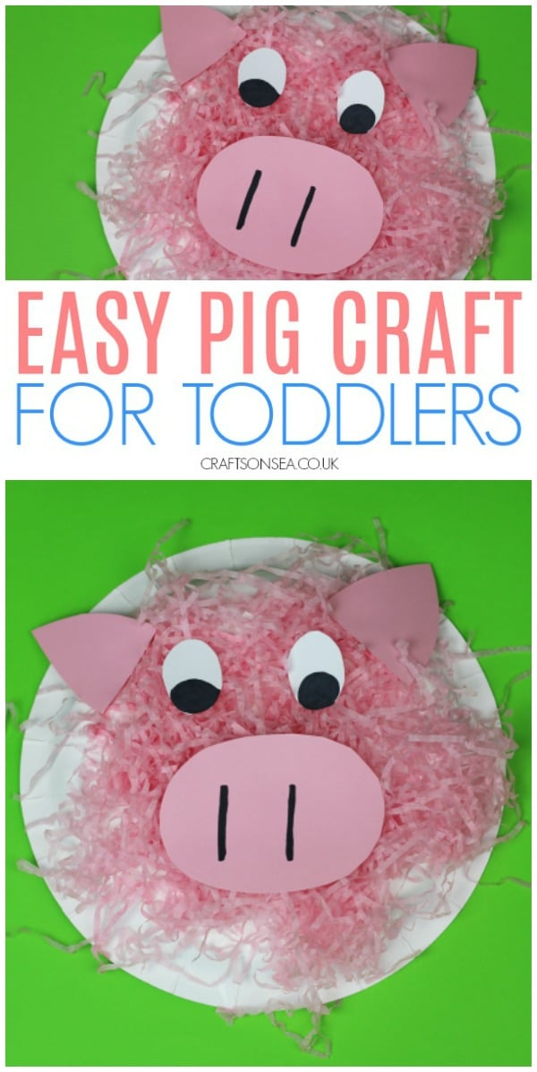 pig crafts for toddlers paper plates preschool #kidscrafts #toddler