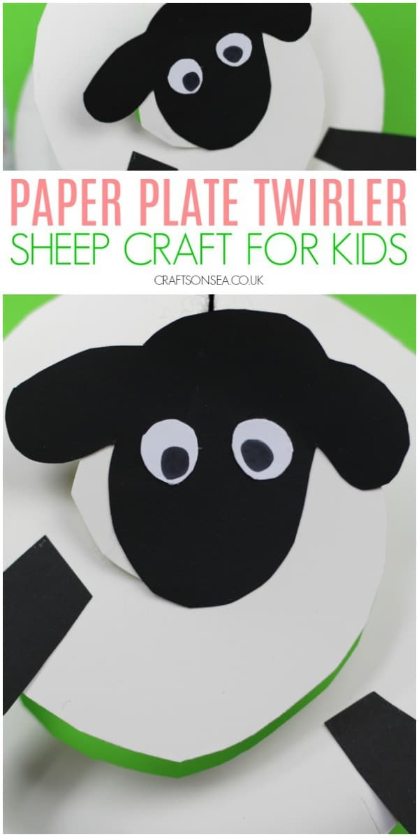 sheep craft for kids preschool paper plate #preschool #kidscrafts