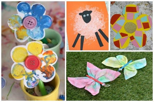 spring crafts for preschoolers flowers sheep butterflies