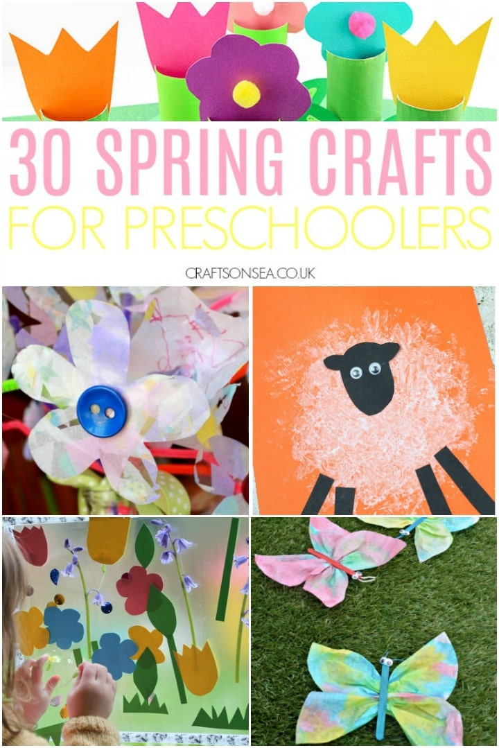 spring crafts for preschoolers three and four year olds