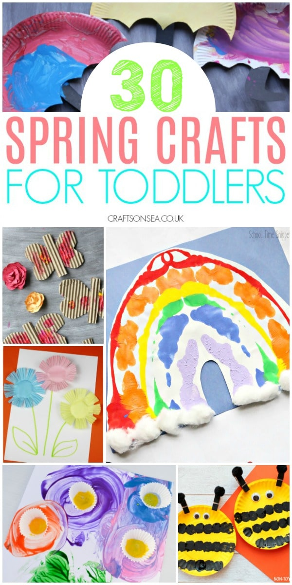 spring crafts for toddlers easy butterflies bees rainbows #kidscrafts #toddler