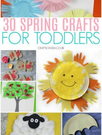 spring crafts for toddlers flowers butterflies